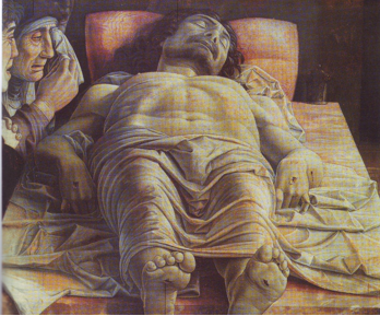 """Andrea Mantegna, """"Den døde Kristus"""""""
