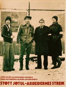 """Victor Lind, """"Støtt Jøtul-arbeidernes streik"""", plakat, udatert (senere innkjøpt av Museet for samtidskunst)"""