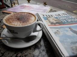 kaffe og avis. Inspirasjon