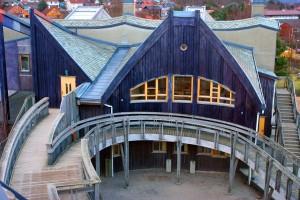 Steiner-skulen i Stavanger, frå 1999. Foto: Steinerskolen i Stavanger/Gottfried Straube Fjeldså