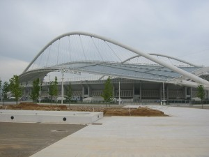 Olympiastadion i Athen, teikna av Santiago Calatrava.