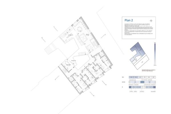 Plan, 2.boligetasje. Bibliotek