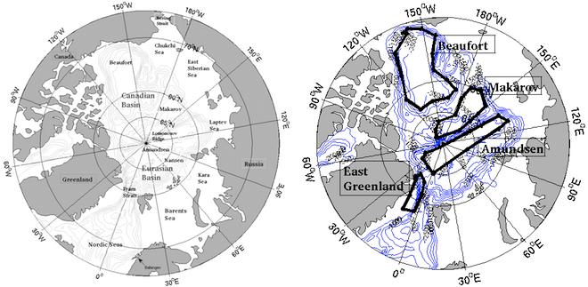 Kart over polhavet