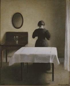 """Wilhelm Hammershøi, """"Interiør"""", 1898"""