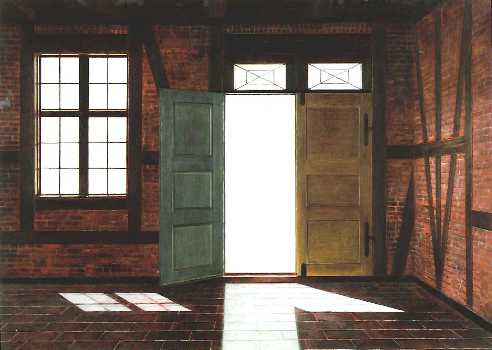 """Ida Lorentzen, """"Fra Glasshytten"""", 2005. Foto fra Blaafarveværkets Samling. (c) Ida Lorentzen / BONO 2011"""