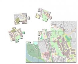 Illustrasjon av kartpuslespillet