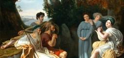 Charles Nicolas Rafael Lafond (1774–1835): Sappho sings for Homer,