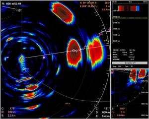 Bilde fra sonaren SX90, produsert av Simrad. Hentet fra www.simrad.com
