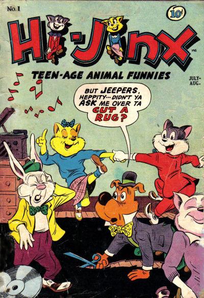 Tegneserier illuderer lyd på flere måter. Bruk av snakkebobler er en av dem. Illustrasjon: American Comics Group 1947 / Wikimedia Commons