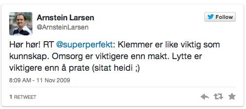 Tweet av Arnstein_Larsen