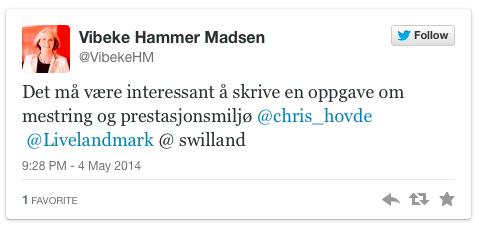 Tweet av Vibeke_Hammar_Madsen