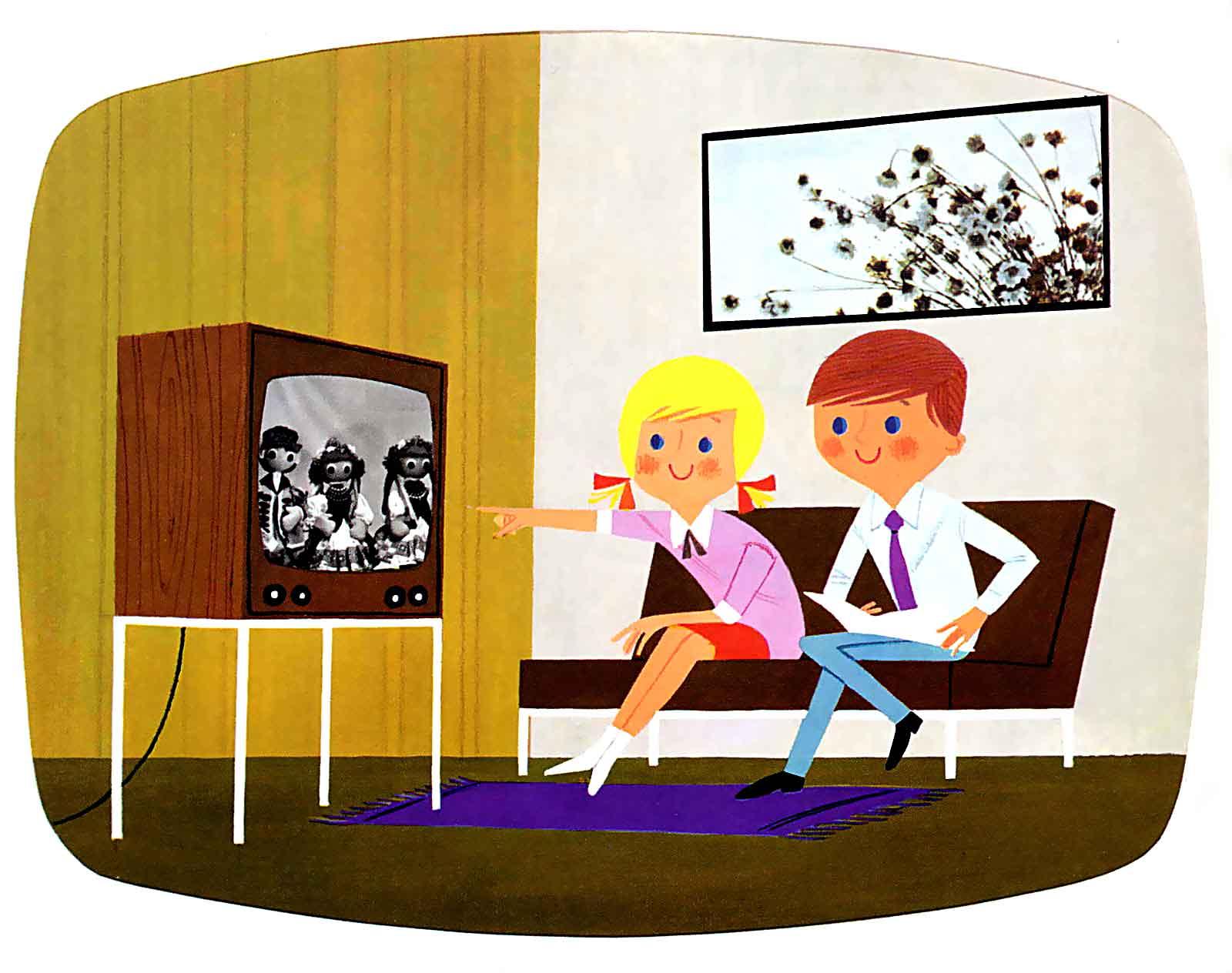 I fjernsynets barndom var apparatet nesten å regne som et familiemedlem. Illustrajon: James Vaughan / Flickr