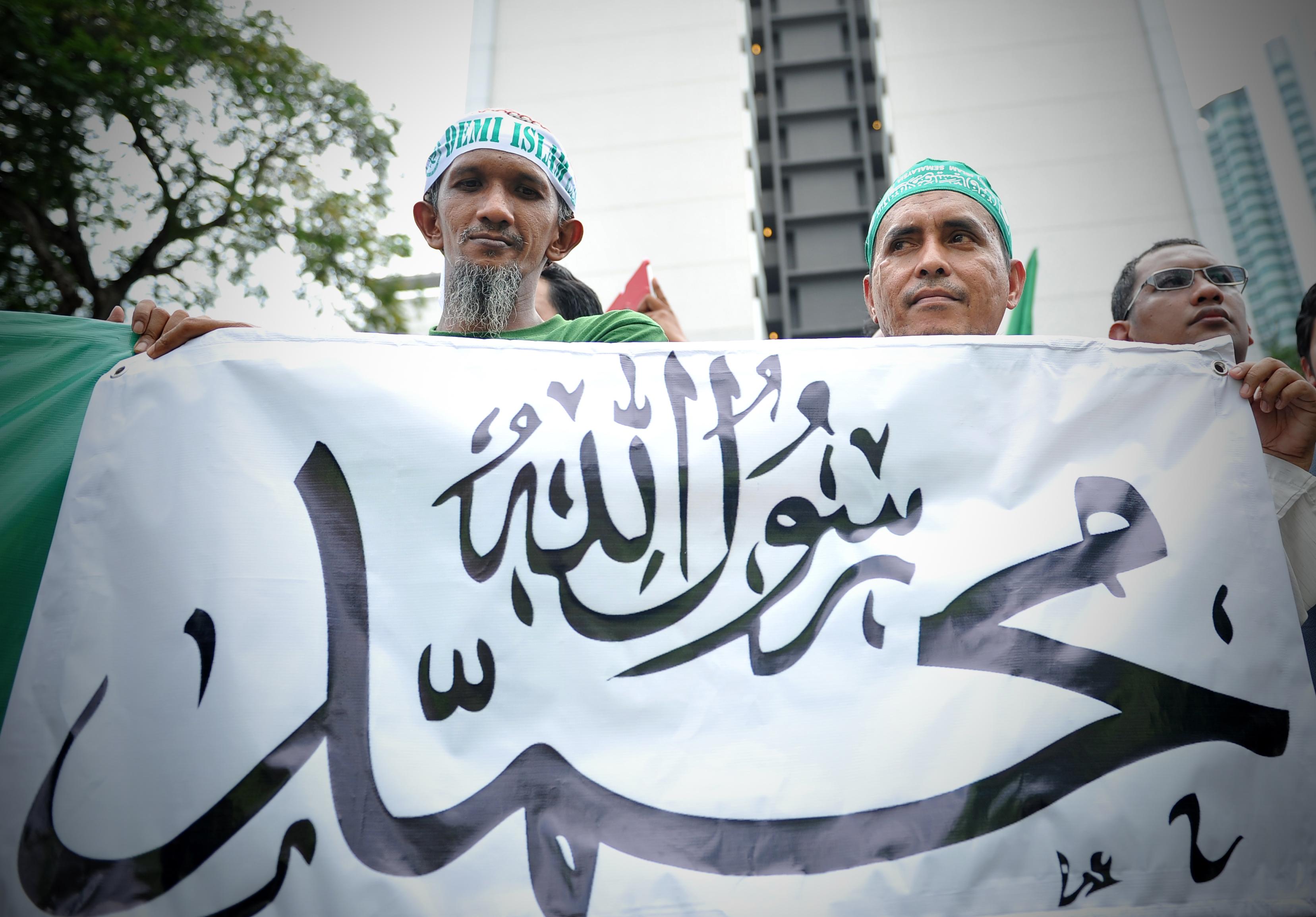 """Kuala Lumpur, 2012: """"Innocence of Muslims"""" vekket sterke reaksjoner, men skapte ikke kaos av samme proposjoner som Rushide-saken og Jyllandspostens karikaturtegninger. Foto: Firdaus Latif / Wikimedia Commons"""