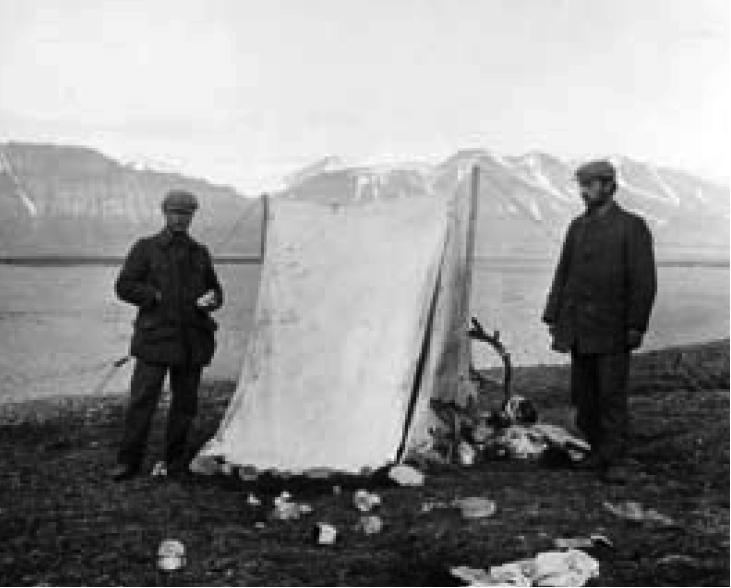 Uppsala-ekspedisjon til Isfjorden, Svalbard, i 1913.