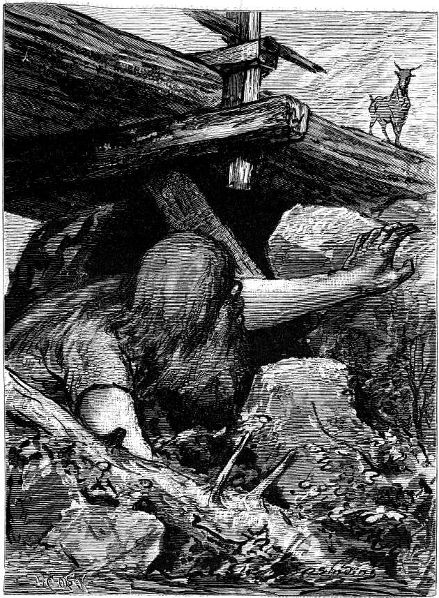Det gode mot det onde - klassisk  eventyrtematikk er fengende! Illustrasjon: Otto Sinding (1879)