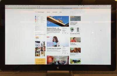 Bilde av Masterbloggen Mac-skjerm