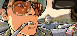 Immersion-journalistikk. Bildet beskriver en scene fra Hunter. S. Thompson Fear and loathing in Las Vegas