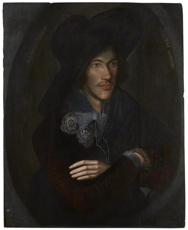 John Donne malt av ukjent kunstner ca. 1595 i London