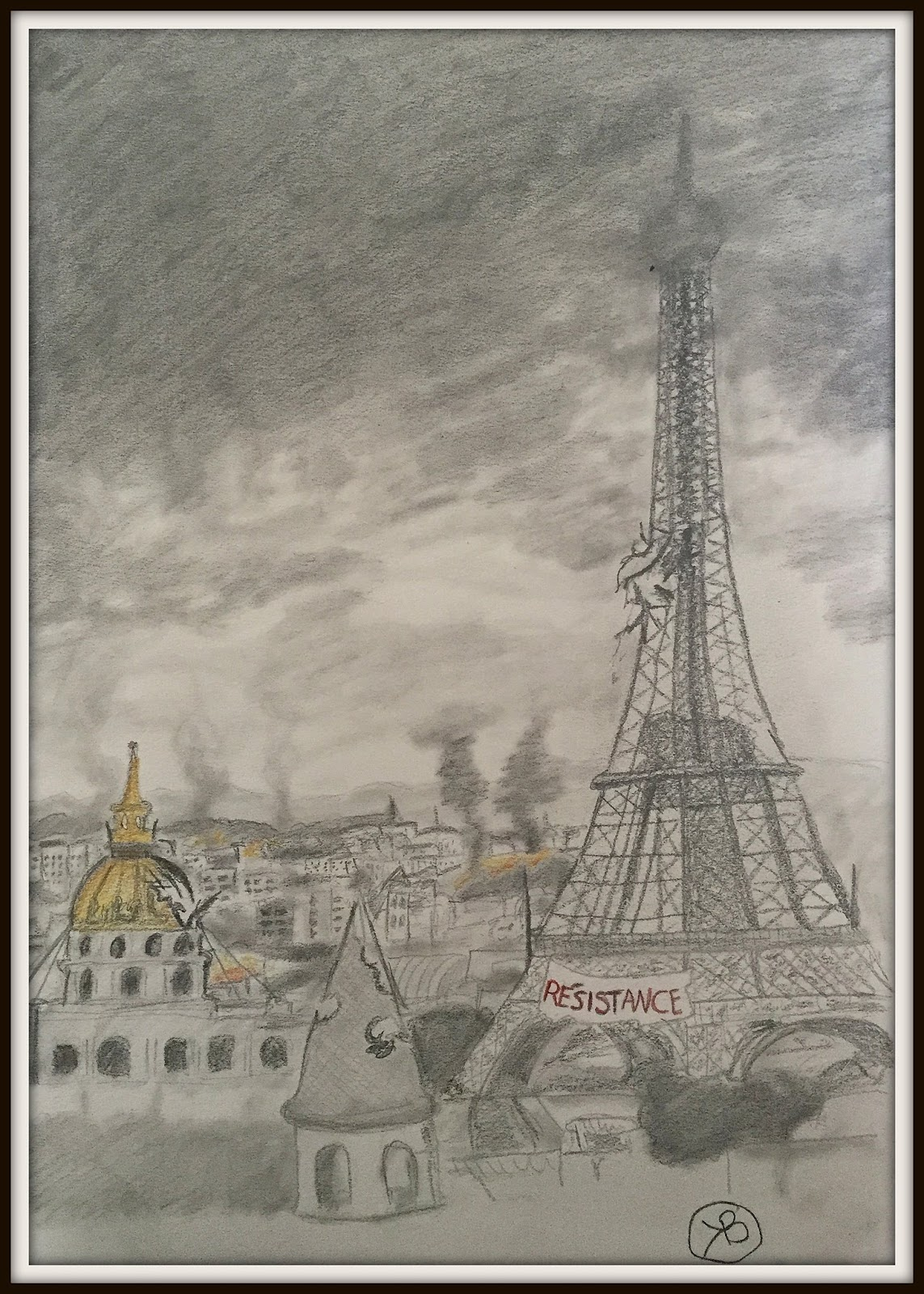 Tegning av Paris - Berit Kristine Wullum