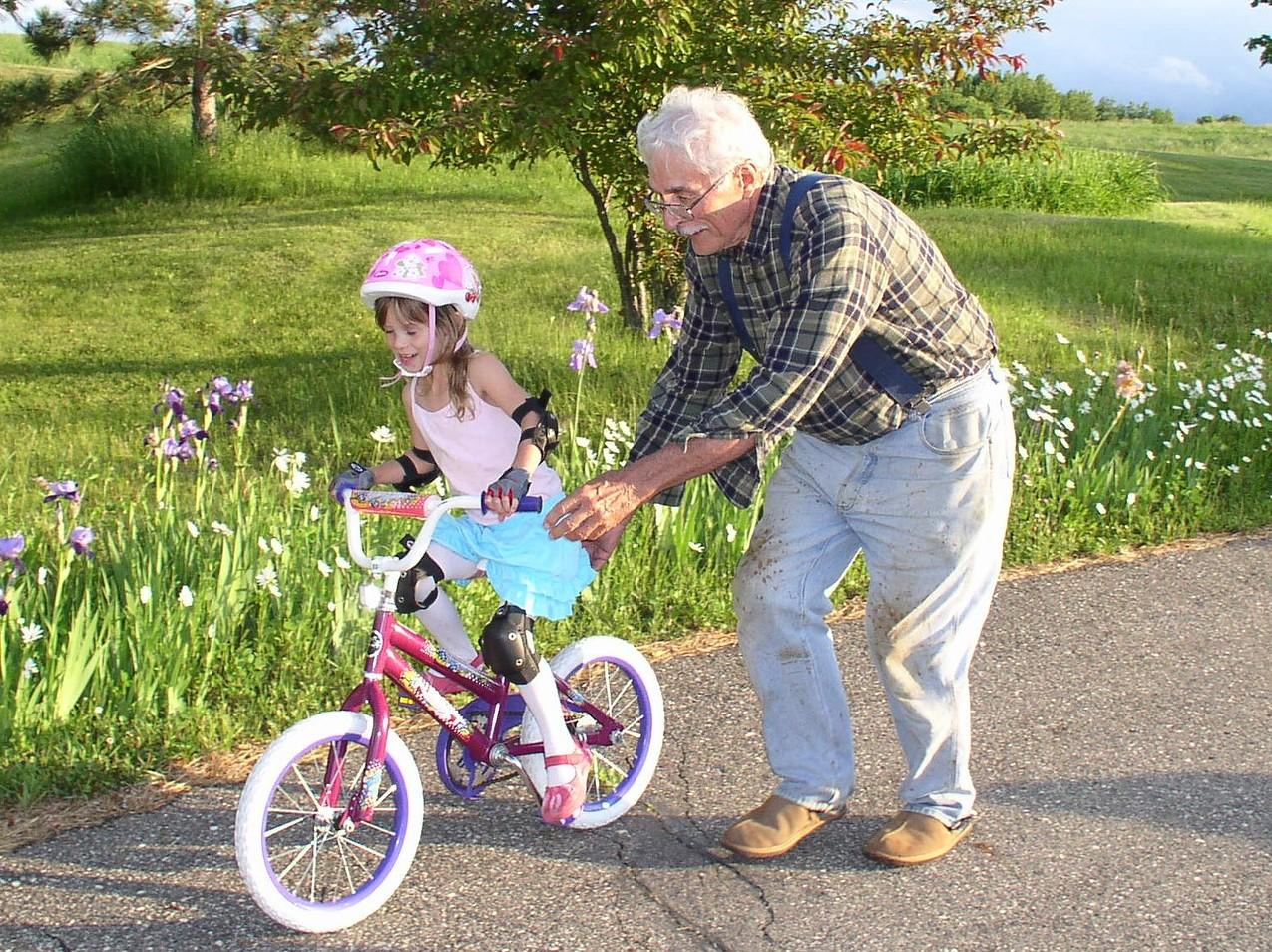 barn og bestefar